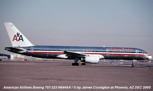 Photo of boeing 757 223 n644aa aviation safety network for American airlines plane types