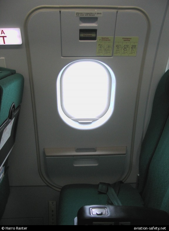 Photo Of Airbus A319 112 Emergency Exit Aviation Safety